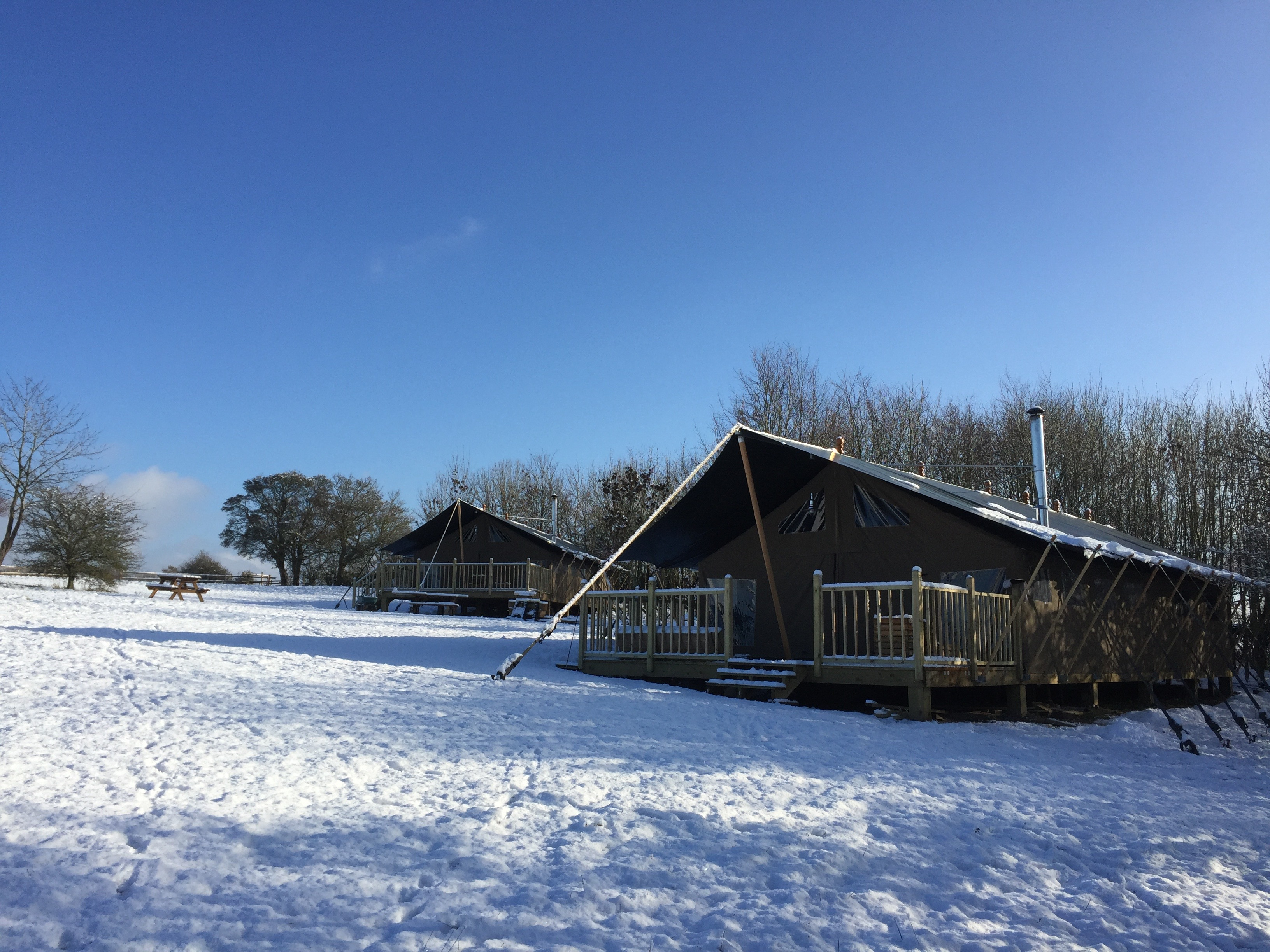 Safari Lodge in winter