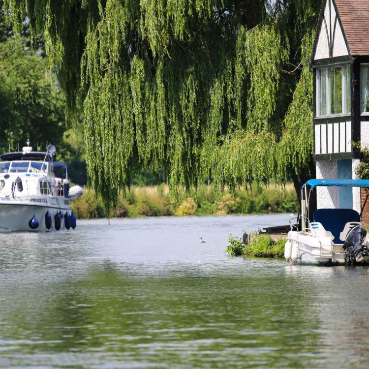Boat on Thames near Cookham